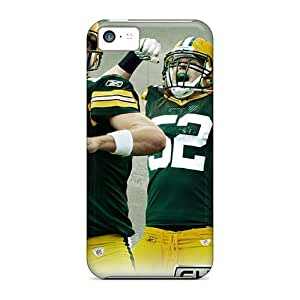 AnnaDubois Iphone 5c Scratch Resistant Hard Phone Covers Allow Personal Design Fashion Green Bay Packers Series [WmS7402xvYp]