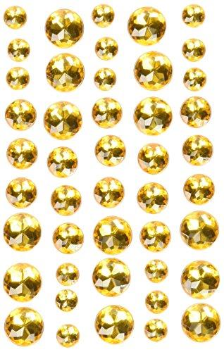 Doodlebug Adhesive Jewels 45/Pkg-Bumblebee
