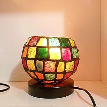Tzq Kristall Nachttisch Wohnzimmer Kreative Lampe Romantische Beleuchtung Lichtfarbe Von Nacht Handwerk Bunte