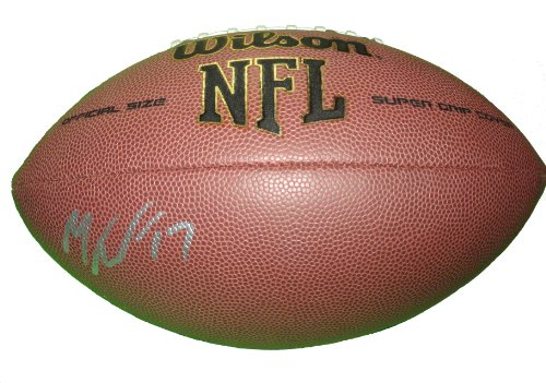 (Philadelphia Eagles Mike Wallace Autographed Hand Signed NFL Wilson Football with Proof Photo of Michael Signing, Minnesota Vikings, Pittsburgh Steelers, Miami Dolphins, Baltimore Ravens, Ole Miss,COA)