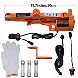 Sywwlov 3.0 Ton (6600lb)12 V DC Fully Automatic Electric Scissor Car Lift Jack Tire Wheel Changing Kit(3.0T Car Jack)