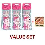 FT Shiseido Eyebrow Razor 3pcs x 3 Pack set (total 9 pcs) with Premium Oil Blotting Paper Value Set