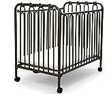 The Kingston Mini Wrought Iron Folding Crib - Vintage Gold