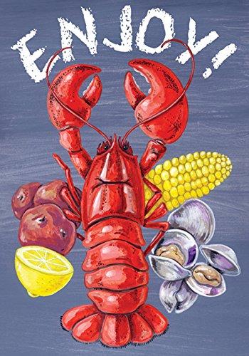 Toland Home Garden Lobster Clam Bake 12.5 x 18 Inch Decorative Enjoy Summer Seafood Corn Potato Picnic Garden -