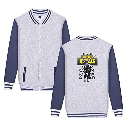 Stampate Comode Baseball Leggera Unisex Casual Sweatshirts Semplice Giacca Unicorno Aivosen Moda Fortnite Grey3 Da qftav4w