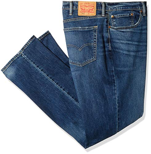 Canyon Stretch Jeans - Levi's Men's Big and Tall 541 Big & Tall Athletic Straight Fit Jean, Blue Canyon/Stretch, 58W X 34L