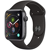 Apple Watch Series 4 44mm GPS Smartwatch with Black Sport Band (Space Gray Aluminium Case) - Open Box