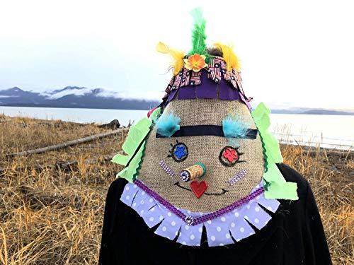 Cajun Courir de Mardi Gras mask, Cajun Fringe Costume, Halloween, carnival masquerade mask - traditional Louisiana old time chicken chase mask ()