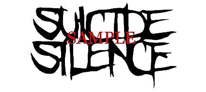 amazon com white suicide silence band decal logo window new sticker rh amazon com Southern California Suicide Silence Suicide Silence Wallpaper