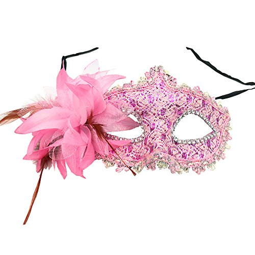 1pc Venetian Style Lily Princess Lace Pattern Mask for Ma...