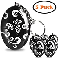 5 Pack 120dB Personal Safety Alarm Keychain Security Alarms for Women/Kids/Elderly Adventurer Self Defense Device