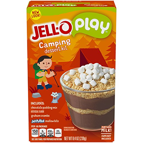 JELL-O Play Camping S'mores Creations Gelatin Dessert Kit (8.4 oz Box)]()