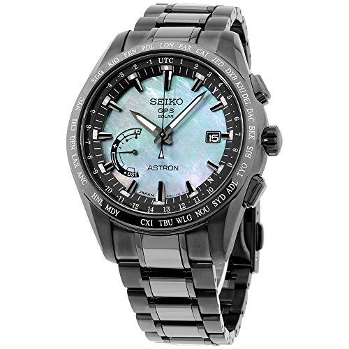 Mens Seiko Astron GPS Solar World Time Ceramic and Titanium LIMITED EDITION Watch SSE091 (World Watch Time Seiko)