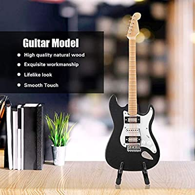 Hztyyier Mini Modelo de Guitarra de Madera con Soporte Instrumento ...