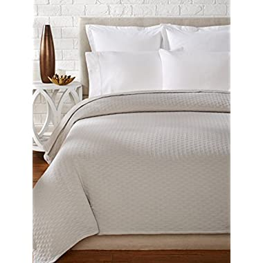 Vera Wang Puckered Diamond Matelass?? Coverlet, Steel, Queen