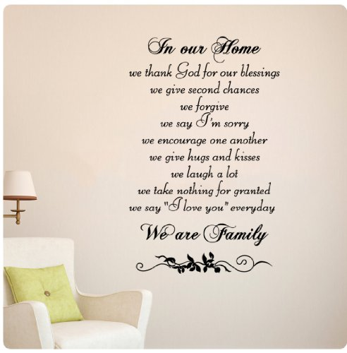 family Decal Sticker Mural D%C3%A9cor product image