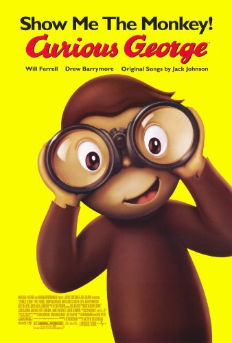 (Curious George Poster Movie B 11x17 Drew Barrymore Will Ferrell David Cross Eugene Levy)