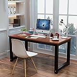 Comforbleplus Modern Simple Style Computer Desk PC Laptop Study Table Office Desk Workstation for Home Office, Teak + Black Legs(47.2×23.6× 29.5inch)