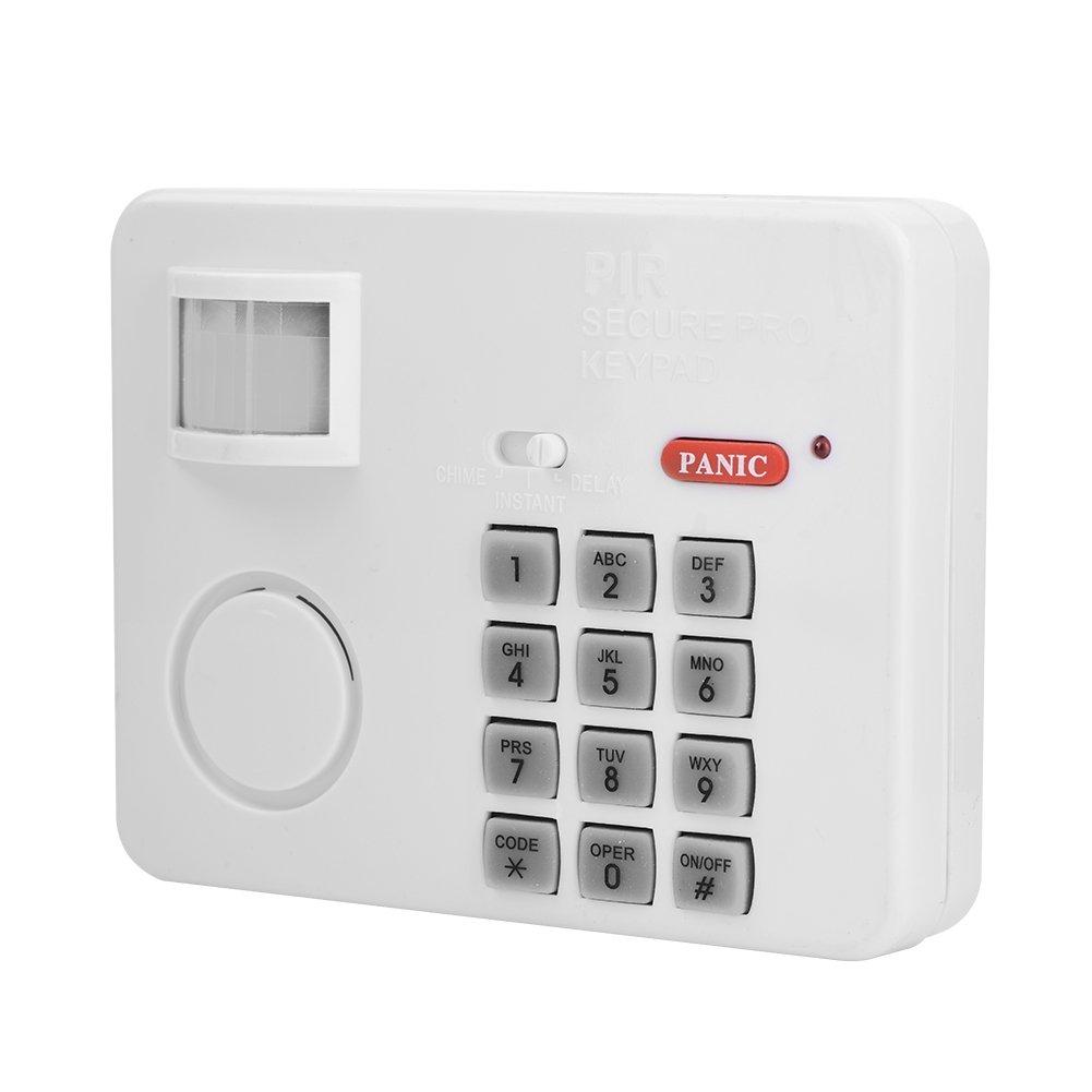 Zerone 105DB Contrase/ña inal/ámbrica Home seguridad emergencia teclado alarma sirena 105/° alarma PIR sensor de movimiento Detectores de puerta ventana sistema de seguridad del hogar