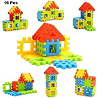 Advent Basics Happy Home Building Blocks and Construction Toy for Kids 16 Pieces (Age 2 to 5, Multicolor) Jr
