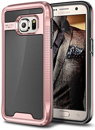 Galaxy S7 Case, E LV Galaxy S7 - Hybrid [Scratch/Dust Proof] Armor Defender Slim Shock-Absorption Bumper Case for Samsung Galaxy S7 - [BLACK/ROSE GOLD]