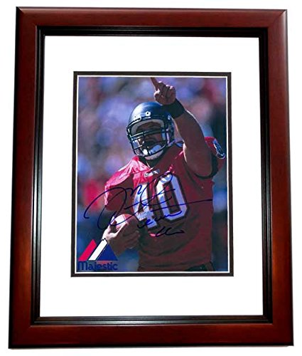 (Mike Alstott Signed - Autographed Tampa Bay Buccaneers BUCS 8x10 inch Photo MAHOGANY CUSTOM FRAME - Guaranteed to pass PSA/DNA or JSA)