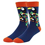 Men Cool Bright Color Toucan Funny Dress Crew Socks