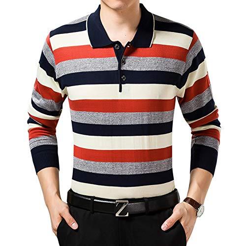 ポロシャツ ニット メンズ 長袖 ワンポイント Tシャツ カットソー カジュアル ボーダー ゴルフ ビジネス シンプル 無地 多色 大きなサイズ 誕生日のプレゼント