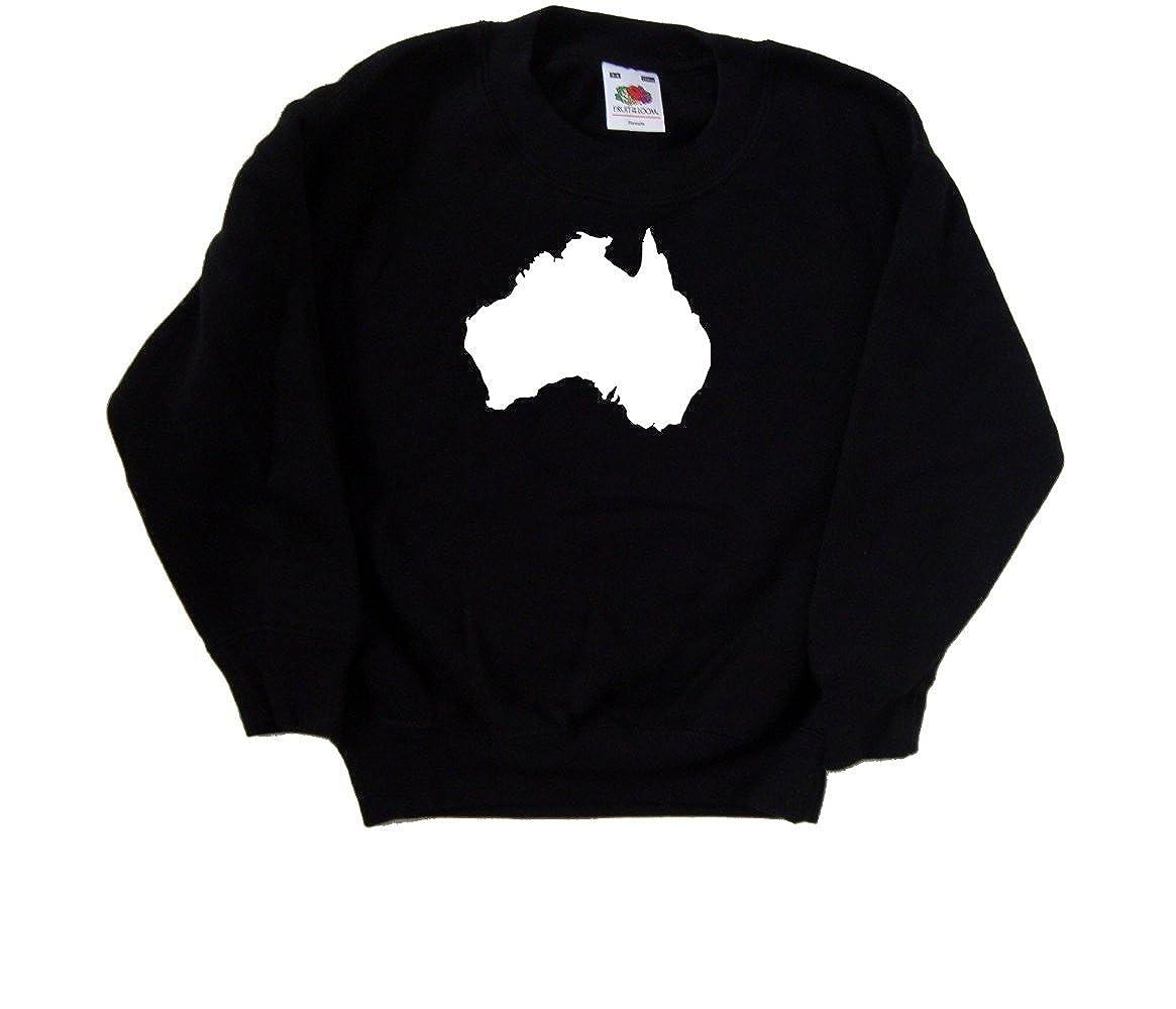 Australia Outline Black Kids Sweatshirt