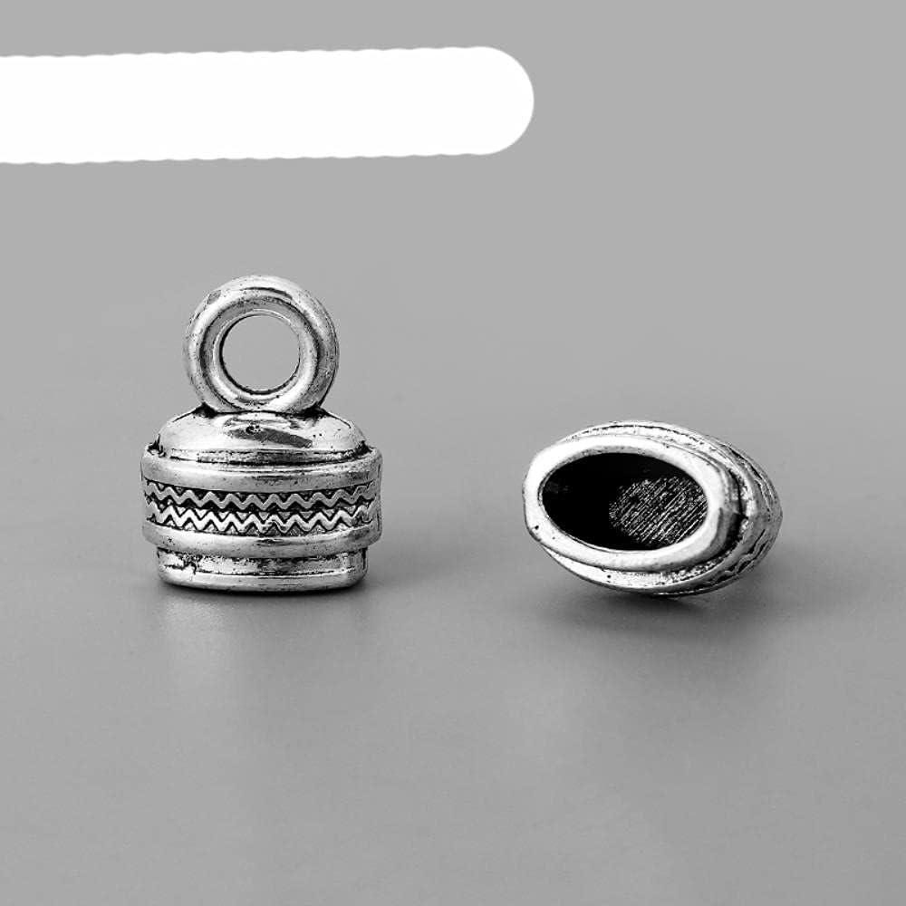 5 piezas de joyería Resultados Tapa de borla Tapa de engarzado Cuentas Final Cordón de Cuero Tapón Conector Cap Fabricación de Joyería Accesorios por defecto
