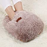 CHAOYANG Comfortable Cute Foot Warmer, Removable Washable Plush Warm Foot Shoes/Electric Hot Water Bottle.