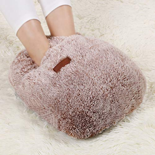 CHAOYANG Comfortable Cute Foot Warmer, Removable Washable Plush Warm Foot Shoes/Electric Hot Water Bottle. by CHAOYANG