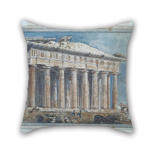 Slimmingpiggy 16 X 16 Inches / 40 By 40 Cm Oil Painting Gell Sir William - The Removal Of The Sculptures From The Pediments Of The Parthenon By Elgin Pillow Shams ,twin Sides Ornament And Gift To St