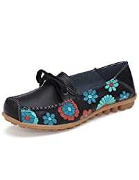 Coo & Mo Women's Leather Slip on Loafers Nurse Shoes