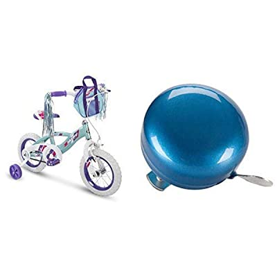 "Huffy 12"" Kid Training Wheel Bike Bundle with Blue Bicycle Bell : Sports & Outdoors"
