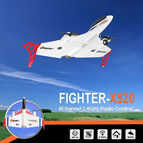 Hisoul XK X520 Glider 2.4G 6CH Switchable 3D/6G Mode Vertical Takeoff Land Delta Wing RC Airplane for Stabilized Flight Easy for Beginner - Shipped from USA (White) by Hisoul (Image #3)