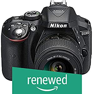 (Renewed) Nikon D5300 24.2MP Digital SLR Camera (Black) with AF-P 18-55mm f/ 3.5-5.6g VR Kit Lens, 16GB Card and Camera Bag