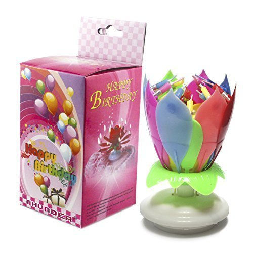ThunderR Amazing Singing Birthday Candle Flower Cake Candles For Party Decoration B0130B0QSG