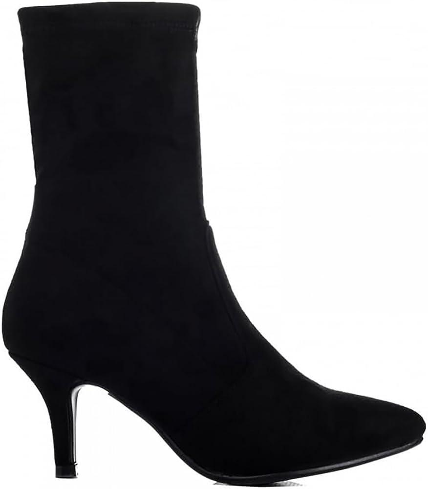 Shoe Closet Ladies Black Sock Stretch