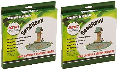 (2 Pack) SONGBIRD ESSENTIALS Seed Hoop Seed Catcher & Platform Feeder (24-Inch Diameter)