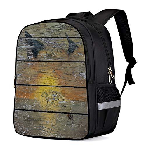 Tkl Professional Series - Large School Backpack for Kids/Kindergarten Wood Grain Series 3D Printed Stylish Laptop Book Bag Lightweight Lunch Bag Daypack for Boys and Girls Arts Language