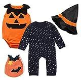 StylesILove Halloween Pumpkin Costume Pumpkin Vest - Romper and Hat 3-Piece