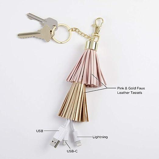 Amazon.com: Kate Aspen 11350NA Tassel Charging Cord Keychain ...