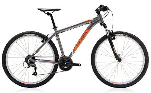 "Polygon Bikes Premier 2 Hardtail Mountain Bicycles, Grey/Orange, 18""/Medium"