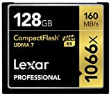 Lexar Professional 128GB 1066x Speed (160MB/s) UDMA 7 CompactFlash Memory Card