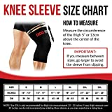 Sale Focus Fitness Knee Sleeve for Men & Women - #1 Copper Knee Compression Recovery Support   88% Highest Quality Copper Content GUARANTEED - Wear Everywhere (XX-Large)