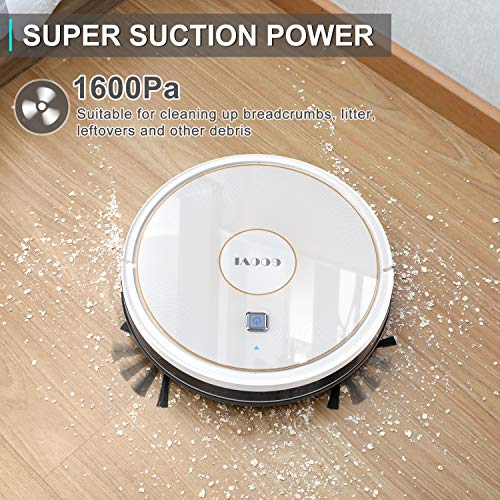 GOOVI Robot Vacuum, 1600PA Robotic Vacuum Cleaner with Wi-Fi, Super-Thin, Self-Charging Robot Vacuum Cleaner, Best for… 2