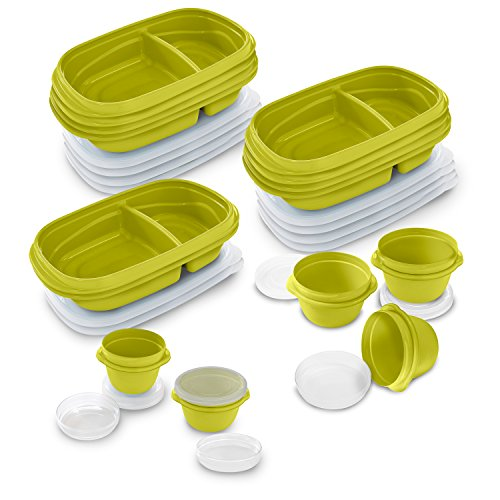 Rubbermaid TakeAlongs 10-Day Meal Prep Kit, 30-piece Set, Citron (2005630) - Rubbermaid Containers Orange