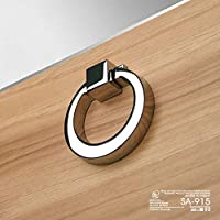 (4 pcs) VIBORG-HK SA-915 Deluxe Kitchen Cabinet Door Knobs, Modern-style Cupboard Pulls Drawer Knobs and Handles, Chrome-finish?Zinc-alloy Casting