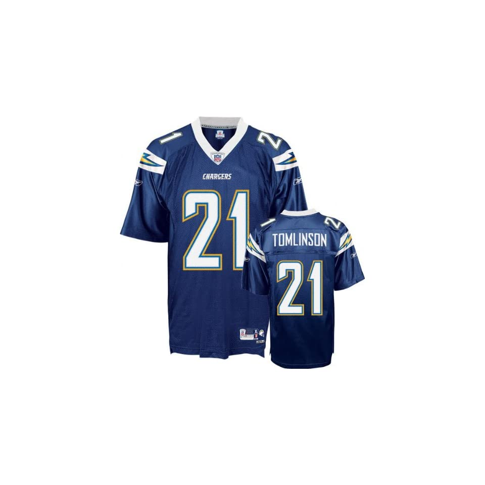 LaDainian Tomlinson #21 San Diego Chargers Replica NFL Jersey Navy Blue Size 50 (Large)